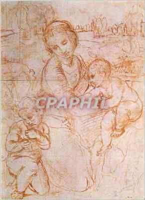 CPM Madonna and Child with St John by Raphael (Raffaelo Santi) (1483 1520) Repro