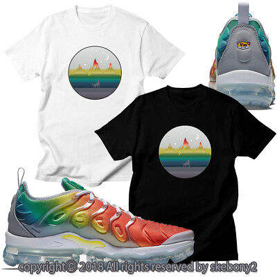 efbbb82e026 NEW CUSTOM T SHIRT matching NIKE AIR VAPORMAX PLUS Rainbow AVP 1-46-16