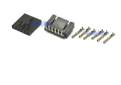 MOLEX 2543 2.54mm 6-Pin Male, Female with LOCK Connector and Crimps x 10 Sets