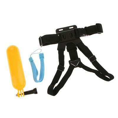 Adjustable Chest Strap + Head Strap + Bobber for GoPro HD Hero 1 2 3 4 5 6