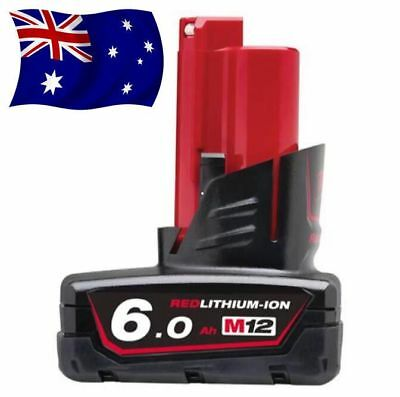 12V 6.0Ah RED Li-Ion Battery FOR Milwaukee M12 B6 AUSSIE STOCK