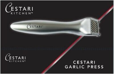 Heavy Duty Garlic Press | Professional Grade Stainless Steel with Garlic