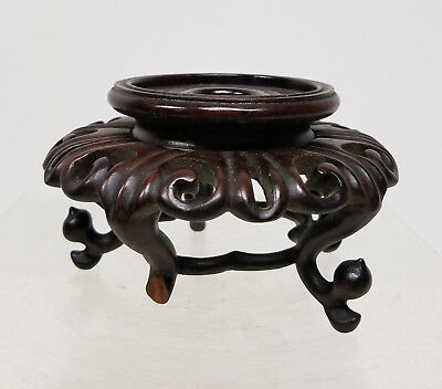 Antique Chinese Carved Hardwood Base or Stand Teak Mahogany Rosewood
