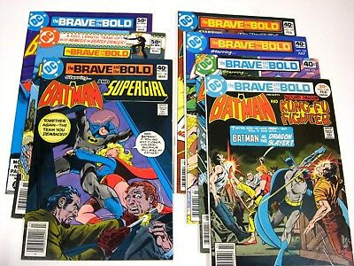 Brave and the Bold lot run 132 151 152 159 160 168 172 (1977) VF Supergirl Flash