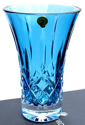 Waterford Crystal ~ Lismore Turquoise ~ 8 Inch Flared Vase ~ Unboxed