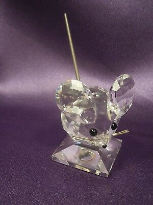 Signed Swarovski Crystal Large Mouse Figurine Vintage