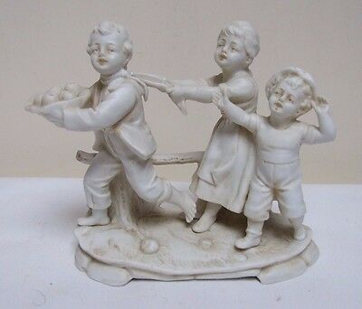 "GOEBEL PARIAN BISQUE CHILDREN FIGURE FIGURINE SPILL HOLDER 5.5"" c.1937"