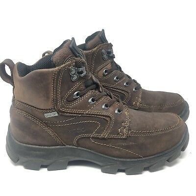 e1d286362ae1 MENS ECCO GORE-TEX Leather Lace-up HIKING BOOTS Brown sz 41 US 7 7.5 ...