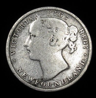 1865 Newfoundland 20 Cents KM# 4 silver coin Canada 100,000 minted