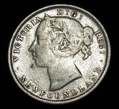 1899 Newfoundland 20 Cents KM# 4 silver coin Canada 125,000 minted