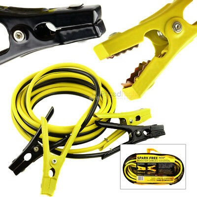 16' Ft Booster Cables Medium Duty Battery Jumper Cables 6 Gauge 250 Amp Safety