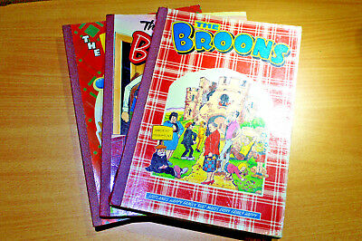 Vintage Collection set 3x `The Broons` scottish comic bi-annual
