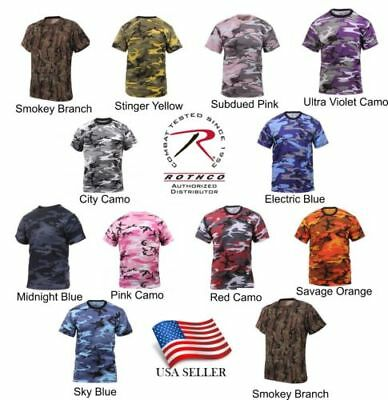 Rothco Camo T-Shirt Military Tee Short Sleeve Camouflage Army Tactical Uniform