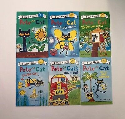 Pete the Cat I Can Read Childrens Books Paperback Lot 6