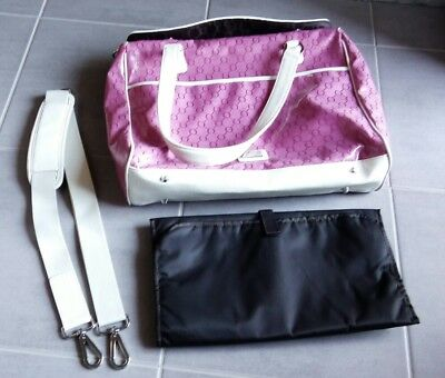 Gorgeous limited edition pink baby nappy bag with change mat by Oroton, NWOT