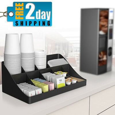 Coffee Cup Office Station Lunch Break Room Table Container Organizer Box Tidier