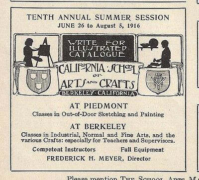 1916 Ad California School Arts Crafts Berkeley Piedmont Sketch Paint -Or Others