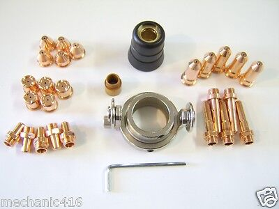 """33 Pc 60Amp Deluxe Consumable Kit Eastwood Versa Cut Plasma Cutter Torch """"read"""""""