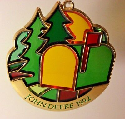 John Deere 1992 Suncatcher / Ornament 11th of series - NEW IN PLASTIC WRAP
