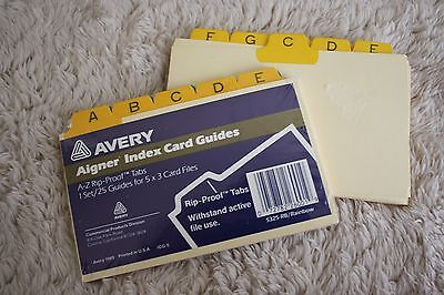 2 sets of aigner 5 x 3 alphabet a z tab index cards tabs durable card stock