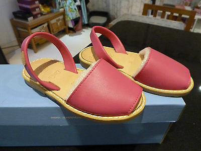 be7c0e620beb AVARCA CASTELL MENORCA 1985 Sandal shoes Deep Pink-Eur 30 uk 11-Leather-Rrp  £45 - EUR 22