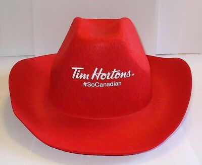 Tim Hortons So Canadian Red Cowboy Hat
