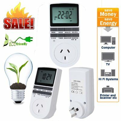 7Day Programmable Digital Electronic Power Timer Switch Socket 240V AU Plug LAU