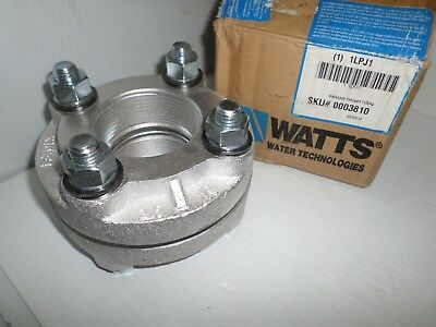 "*NEW*  WATTS 1LPJ1 2-1/2"" Galvanized Malleable Iron Dielectric Flange FIP x FIP"