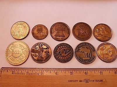 Mixed 10 Lot Tokens,dep Of Defense Challenge Coin,disney,everquest,akatosh &more