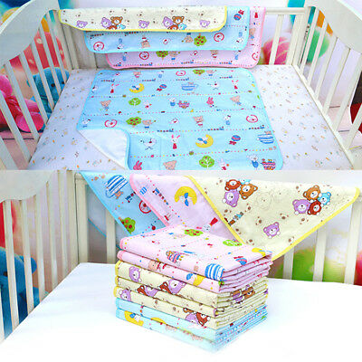 Baby Cartoon Nappy Diaper Pad Washable Mat Waterproof Urine Bedding Chair Pad