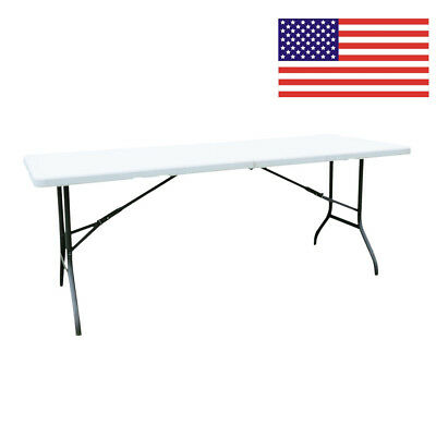 6' Folding Table Portable Plastic Indoor Outdoor Picnic Party Dining Camping New