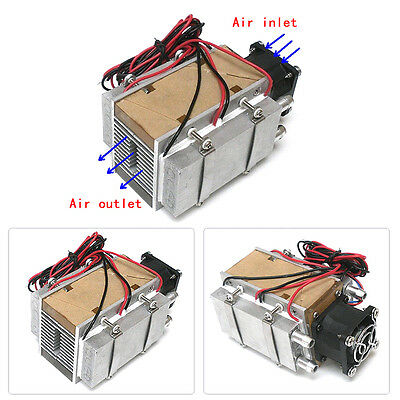 140W Thermoelectric Peltier Refrigeration Cooling System Kit Cooler Fan 1PC