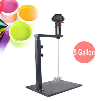 5 Gallon Pneumatic Paint Mixer Machine Ink Coating Mixing Tool W/ Stand Industry