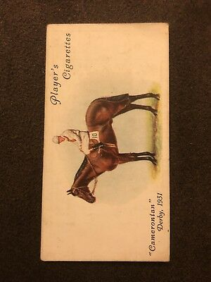 Player's Cigarettes Cigarette Derby Grand National Winners Card #24 Cameronian