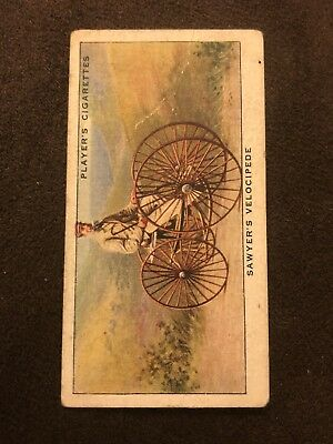 Player's Cigarettes Cigarette Card CYCLING #4 Sawyer's Velocipede