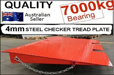 NEW 7000kg CARGO SHIPPING CONTAINER FORKLIFT LOADING RAMP STEEL