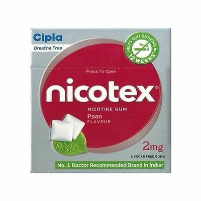 Cipla Nicotex 2mg 'Paan Flavour' 10 Packet | 90 gums | Quit Smoking