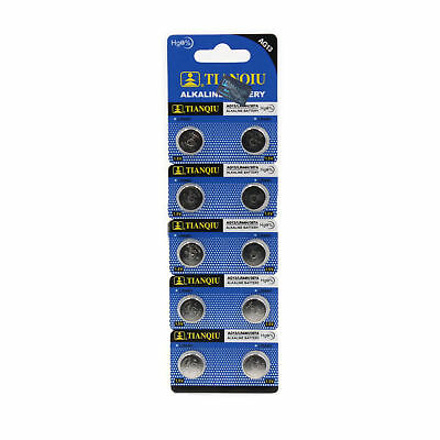 10Pcs New AG13 L1154 A76 LR44H Watch Toys Universal Coin Cell Button Battery