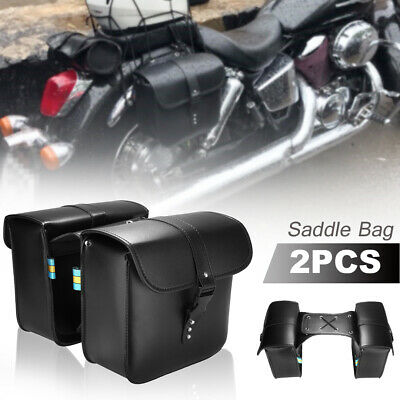 2pcs Motorcycle PU Side Tool Saddle Bag Storage Pouch For Harley Honda