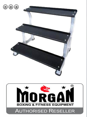 3 Tier Kettle Bell Rack Storage Kettlebell Commercial Steel Stand Layer Crossfit