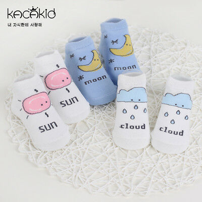 New Baby Socks Newborn Cute Toddler Anti-slip Socks Cartoon Unisex Cotton Socks
