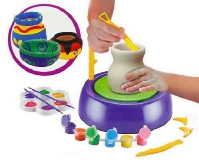 Pottery Wheel Game with Colors and Stencils, Creative Educational Game Toy