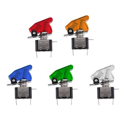 5PCS 12V Safety Cover LED Toggle Switch SPST ON/OFF 20A for Car Boat ATV