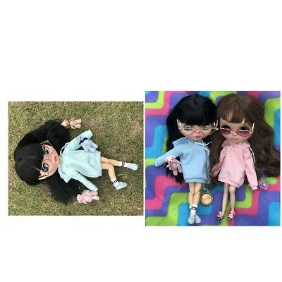 Lovely Casual Multicolor Long Hoodie Sweatshirt Clothes for 1/6 Blythe Doll