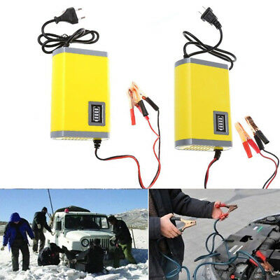 12V 6A/2A Car Motorcycle Smart Automatic Battery Charger Maintainer Trickle New