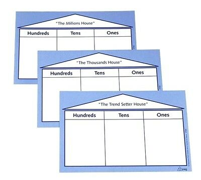 Place Value House Jnr (3 piece) Educational Teaching Resource Maths
