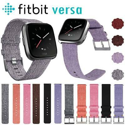 Replacement Woven Fabric Wrist band Strap Watch Band Bracelet For Fitbit Versa
