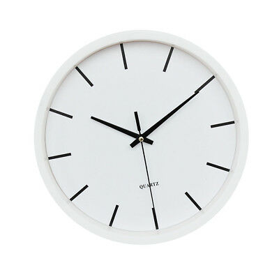Large Round Wall Clock Numeral Quartz Battery Operated Easy Read 10'' White