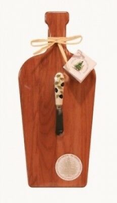 Out of the Woods of Oregon Large Wine Bottle Board with Olives Spreader