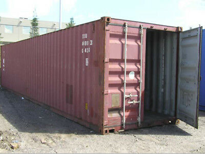 """40ft High cube (9´6) shipping container, """"wind & watertight"""", Tampa, FL"""